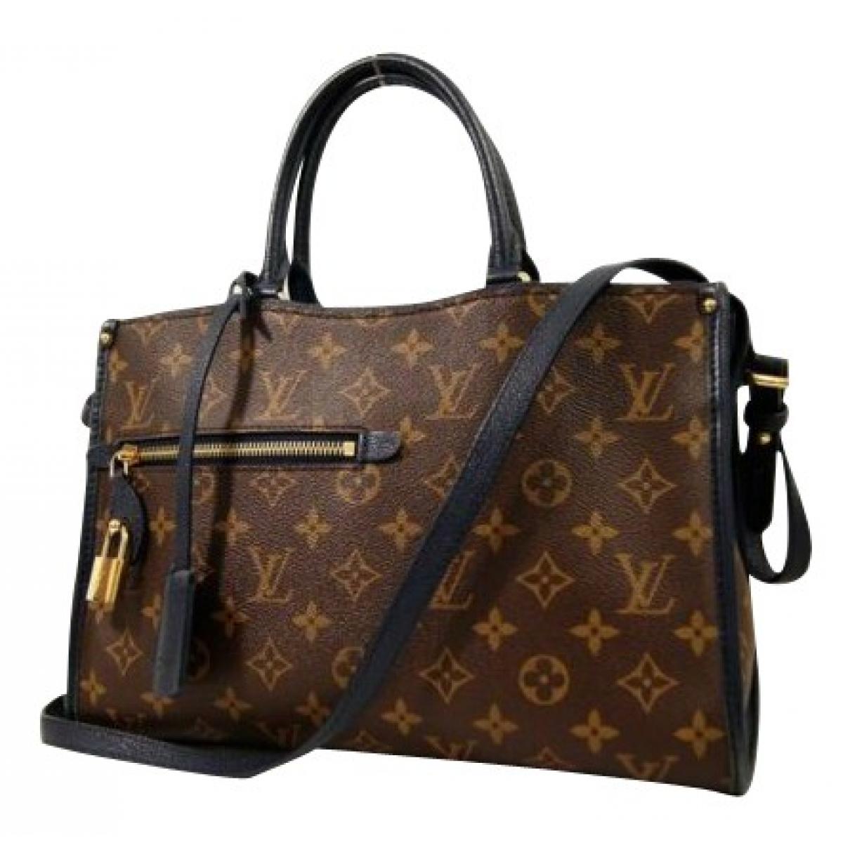 Louis Vuitton Popincourt Handtasche in  Braun Leinen