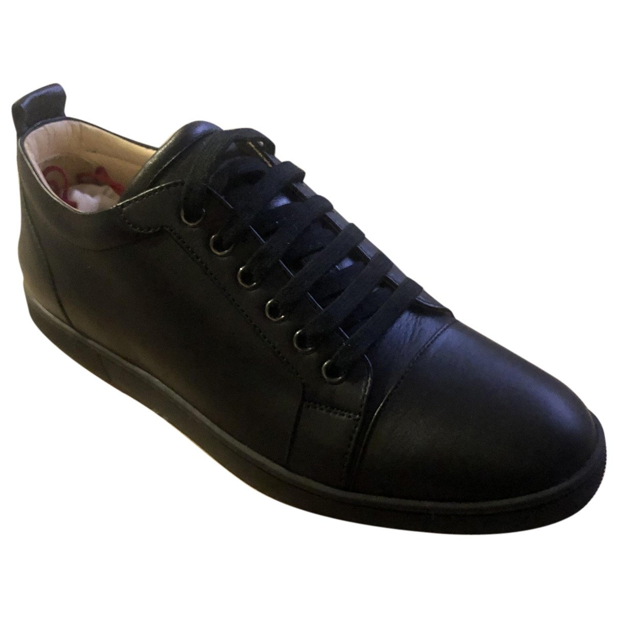 Christian Louboutin Louis Black Leather Trainers for Men 41.5 EU