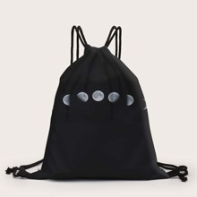 Rucksack mit Mond Muster und Kordelzug