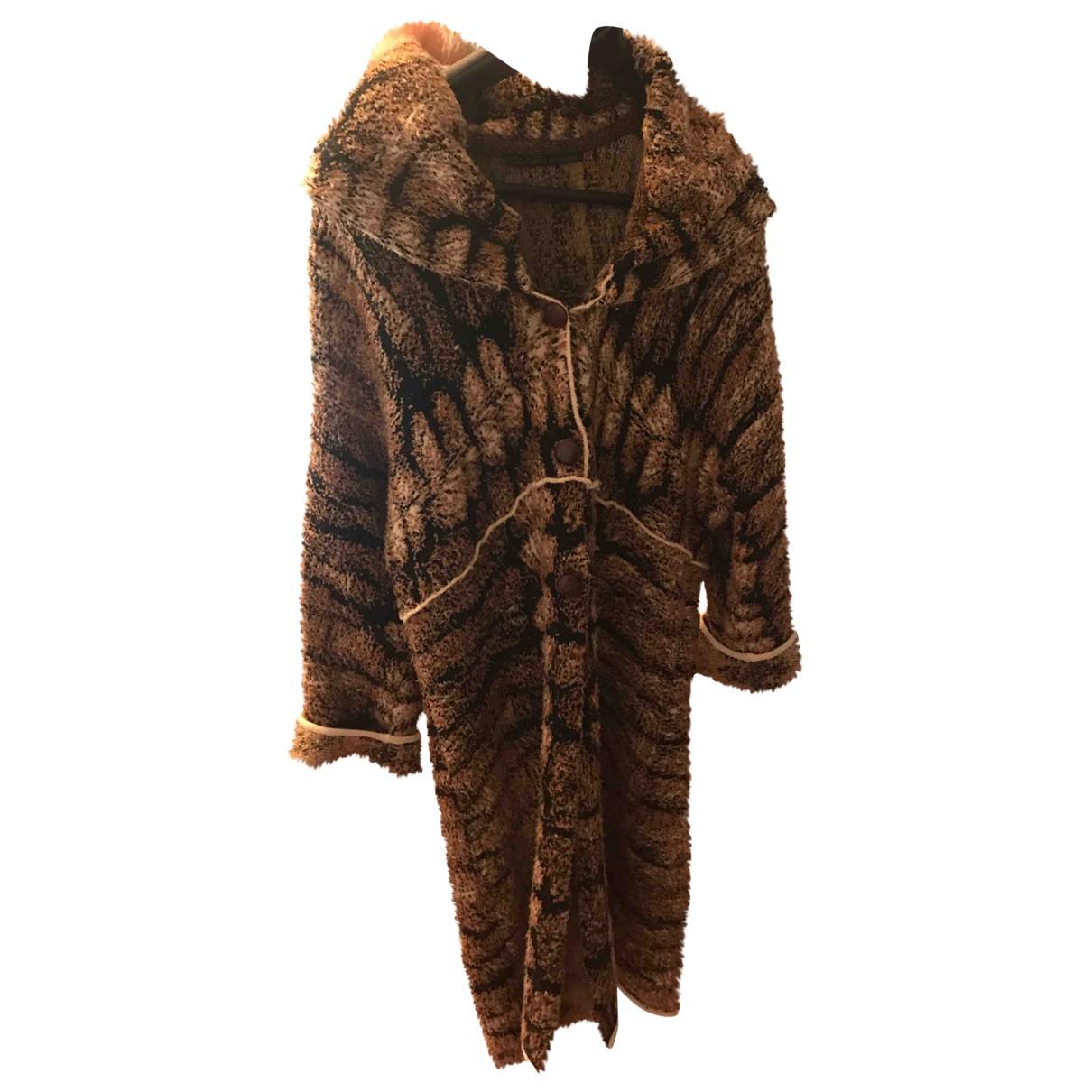 Class Cavalli \N Multicolour Wool coat for Women 42 IT