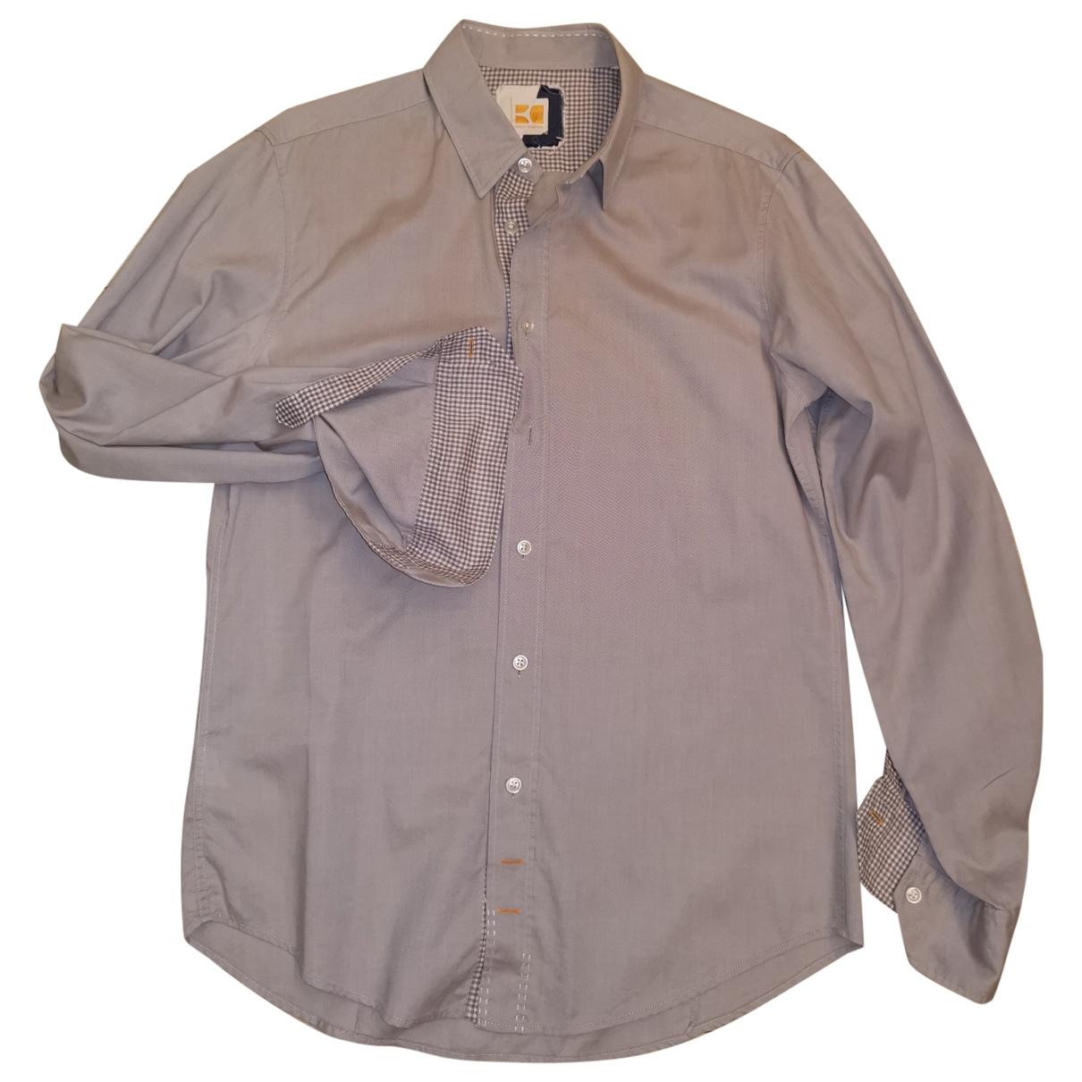 Boss Orange - Chemises   pour homme en coton - beige
