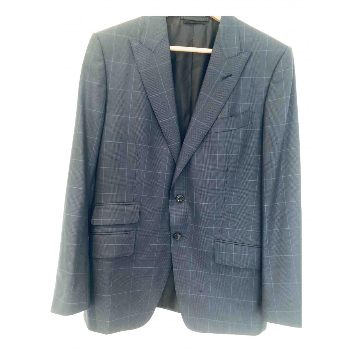 Tom Ford \N Jacke in  Blau Wolle