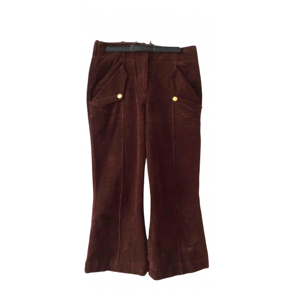 Acne Studios N Brown Cotton Trousers for Women 34 FR