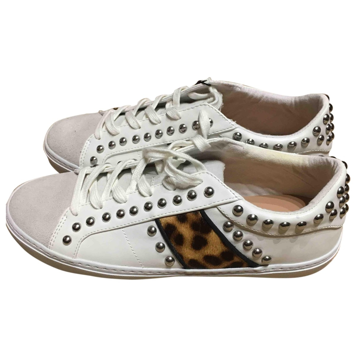 Zara \N White Leather Trainers for Women 5 UK