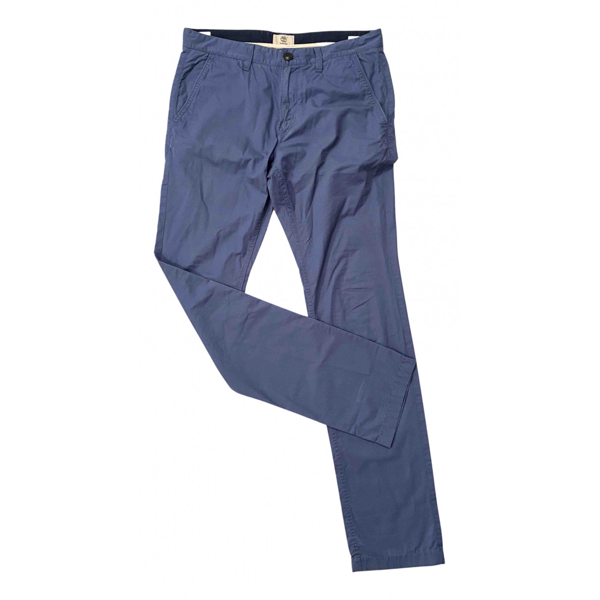 Timberland N Blue Cotton Trousers for Men 34 UK - US