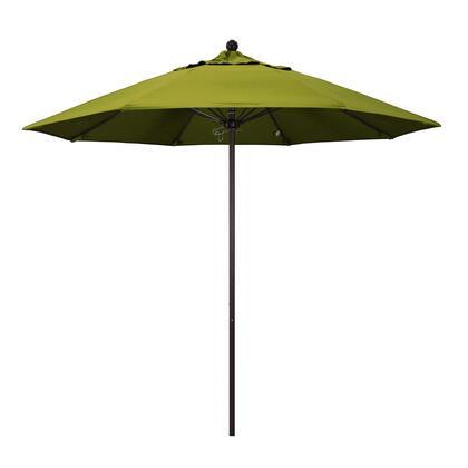 ALTO908117-F55 9' Venture Series Commercial Patio Umbrella With Bronze Aluminum Pole Fiberglass Ribs Push Lift With Olefin Kiwi