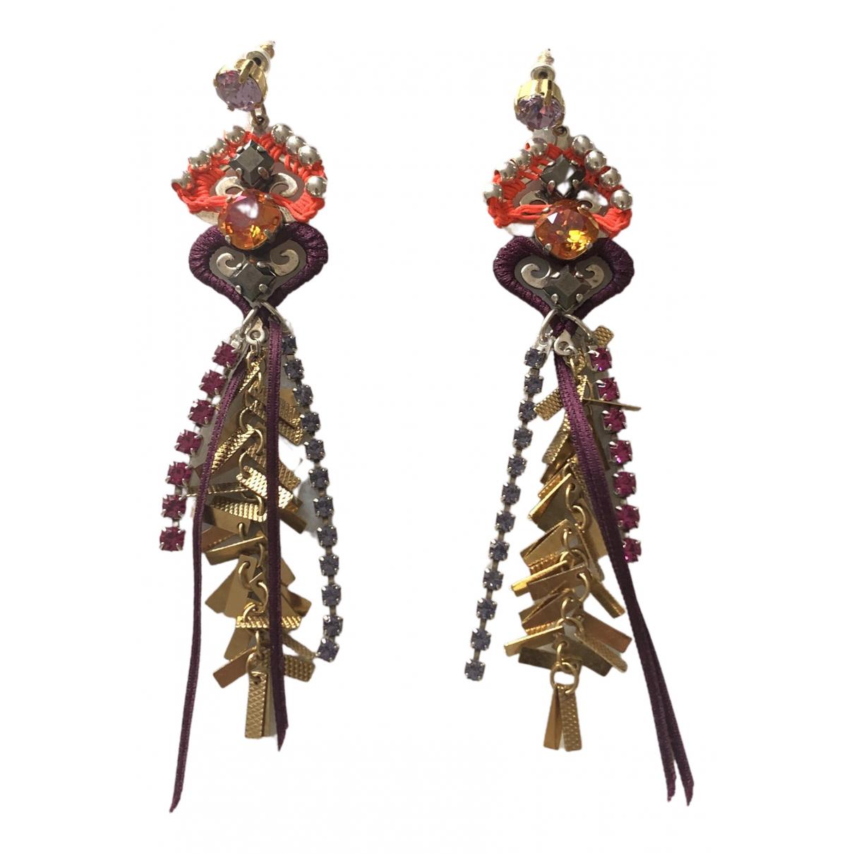 Reminiscence - Boucles doreilles   pour femme en cristal - multicolore