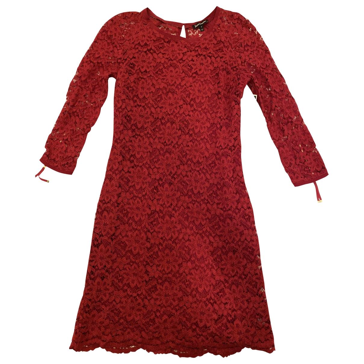 Juicy Couture \N Kleid in  Rot Spitze
