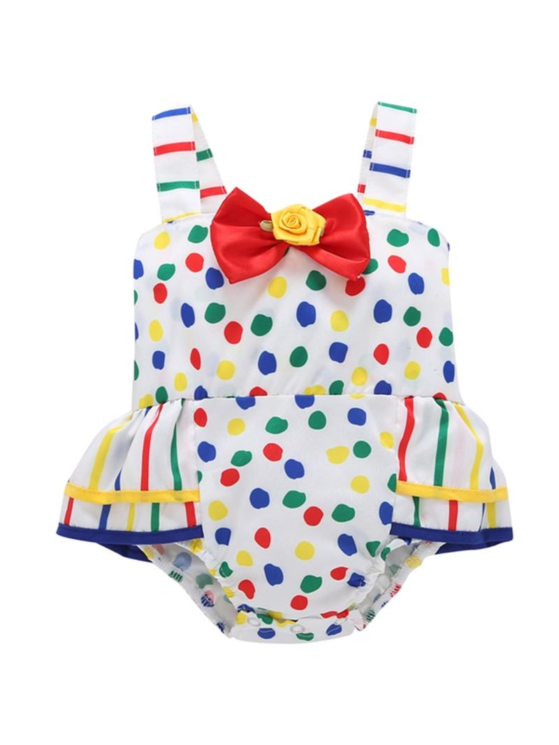 Ericdress Polka Dots Bowknot Baby Girl's Bodysuit