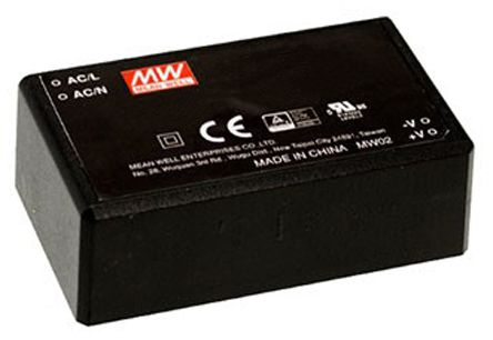 Mean Well , 60W Encapsulated Switch Mode Power Supply, 24V dc, Encapsulated