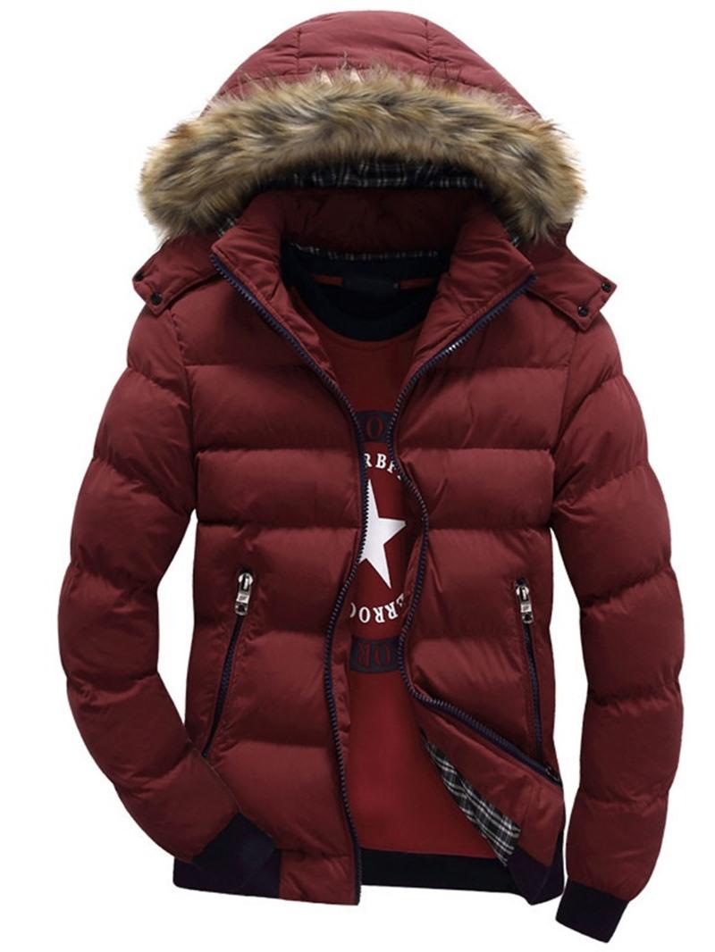 Ericdress Standard Stand Collar Color Block European Zipper Down Jacket