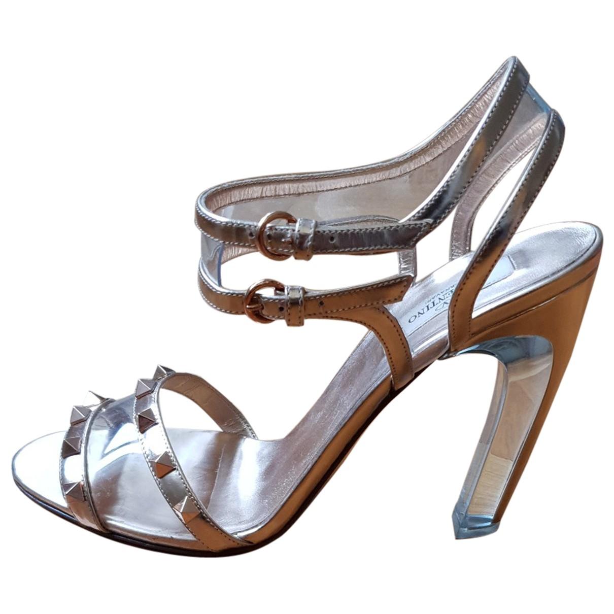 Valentino Garavani N Metallic Sandals for Women 40 EU