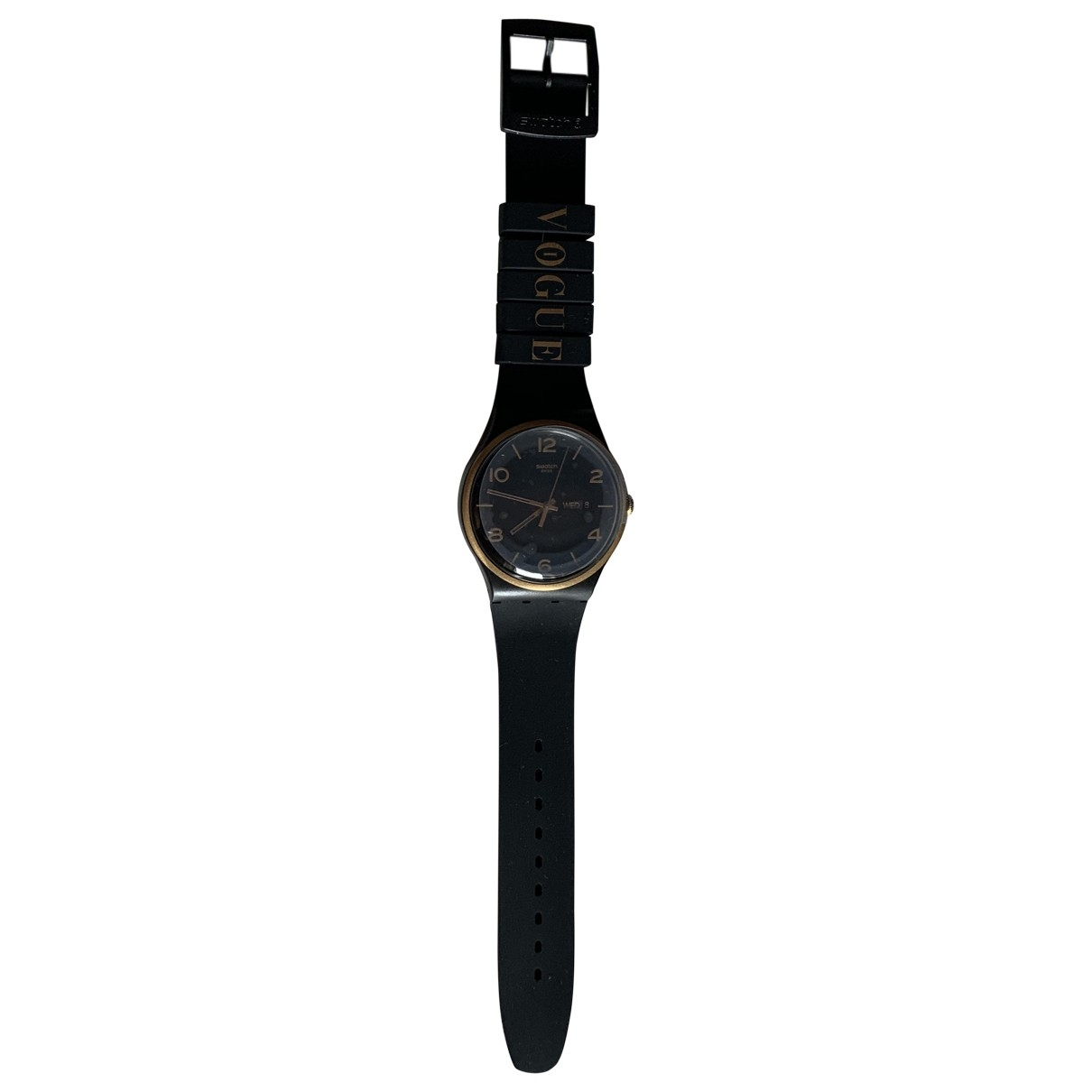 Swatch - Montre   pour homme en acier - noir
