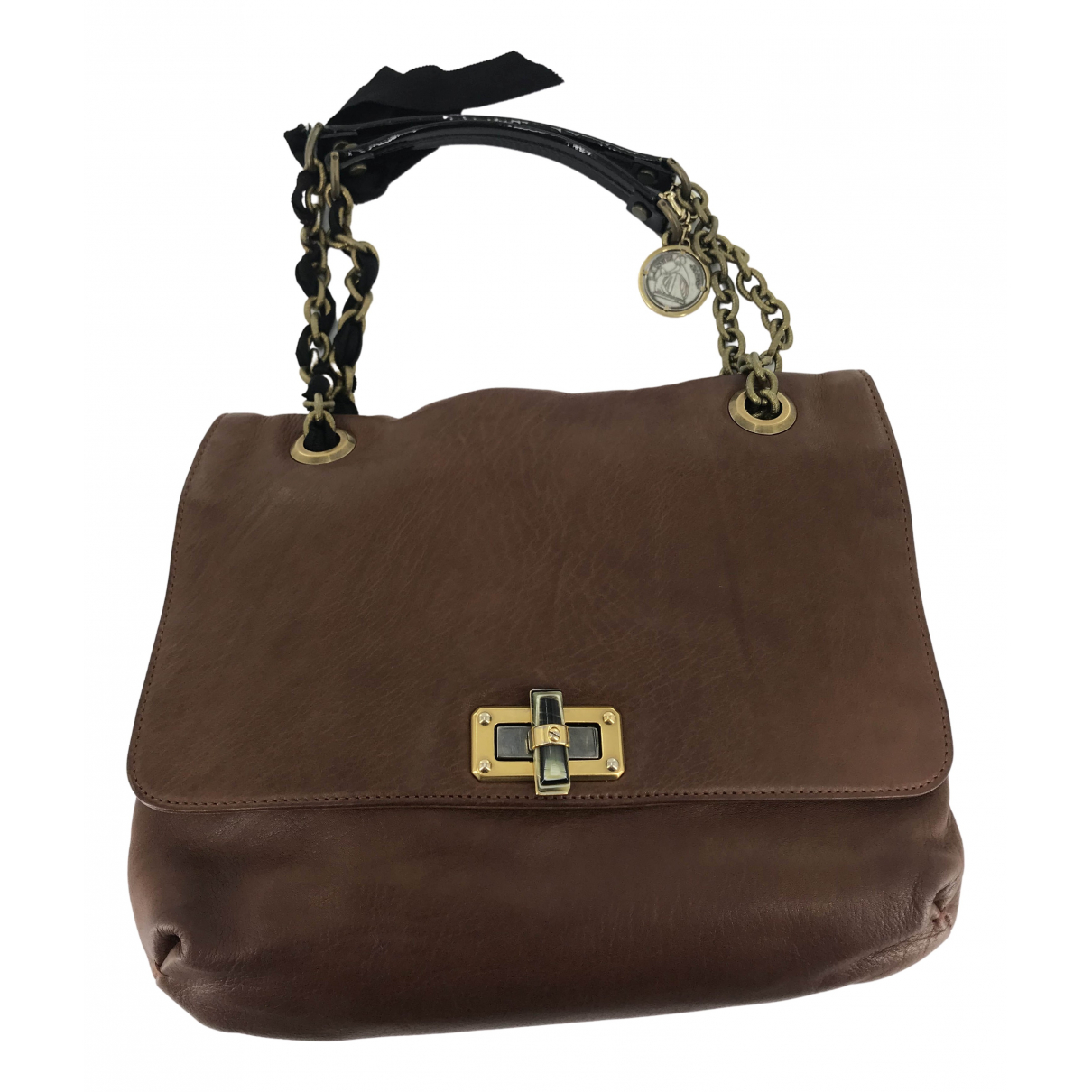 Lanvin Happy Brown Leather handbag for Women \N