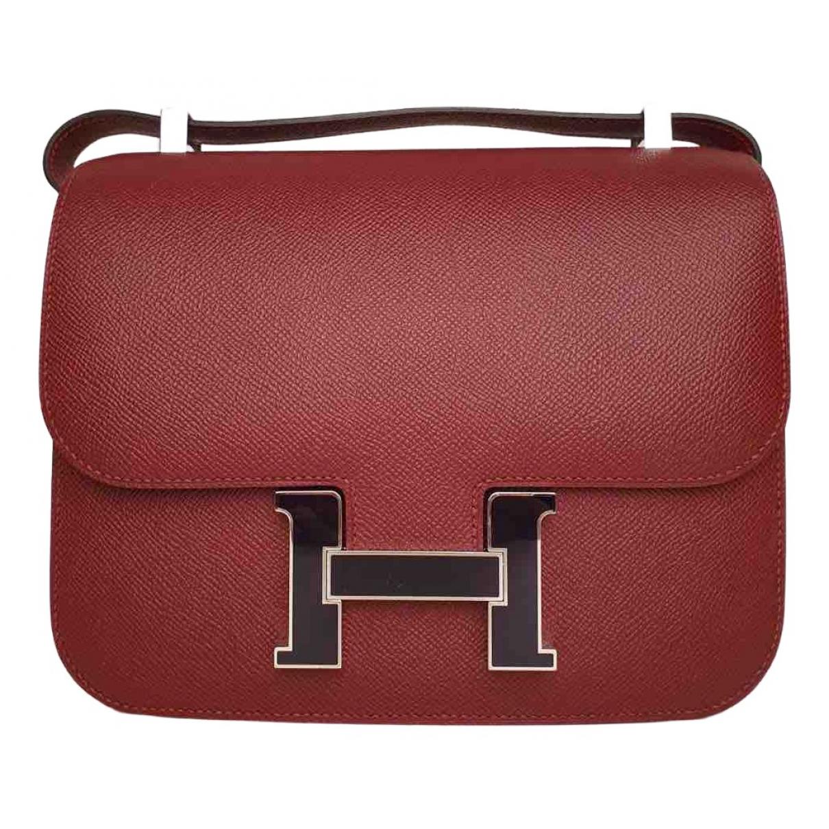 Hermès Constance Burgundy Leather handbag for Women N