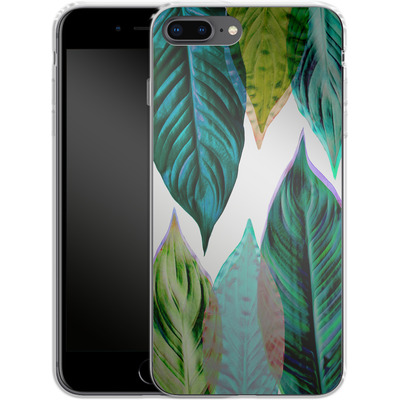 Apple iPhone 7 Plus Silikon Handyhuelle - Green Leaves von Mareike Bohmer