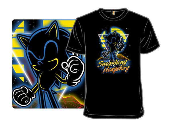 Retro Smashing Runner T Shirt