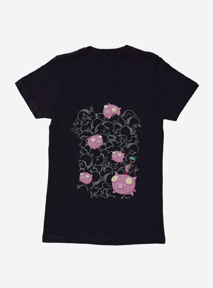 Invader Zim Pig Stampede Womens T-Shirt