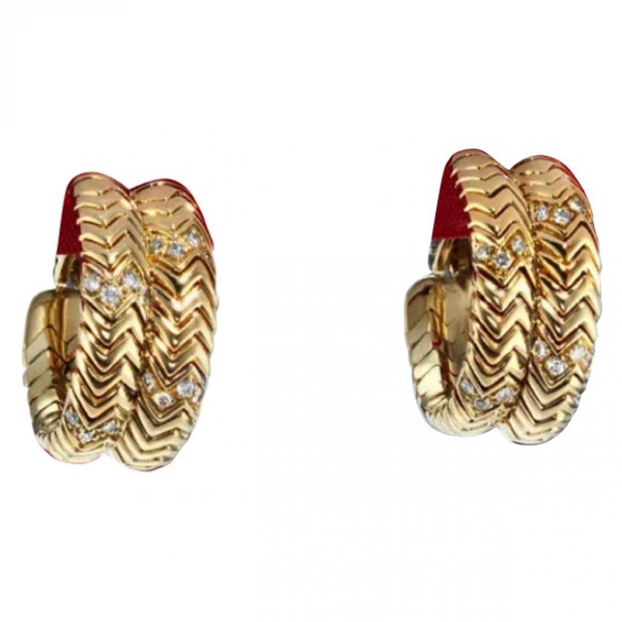 Bvlgari Tubogas OhrRing in  Gold Gelbgold