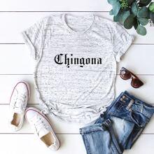 Hellgrau Buchstaben  Laessig T-Shirts
