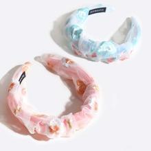 2 piezas aro de pelo de niñitas con bordado floral