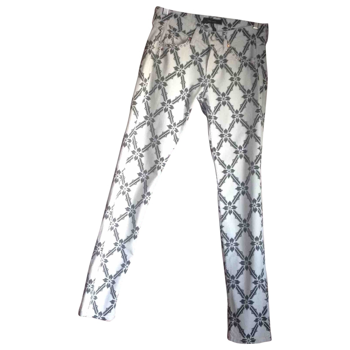 Isabel Marant \N White Cotton Trousers for Women 38 IT