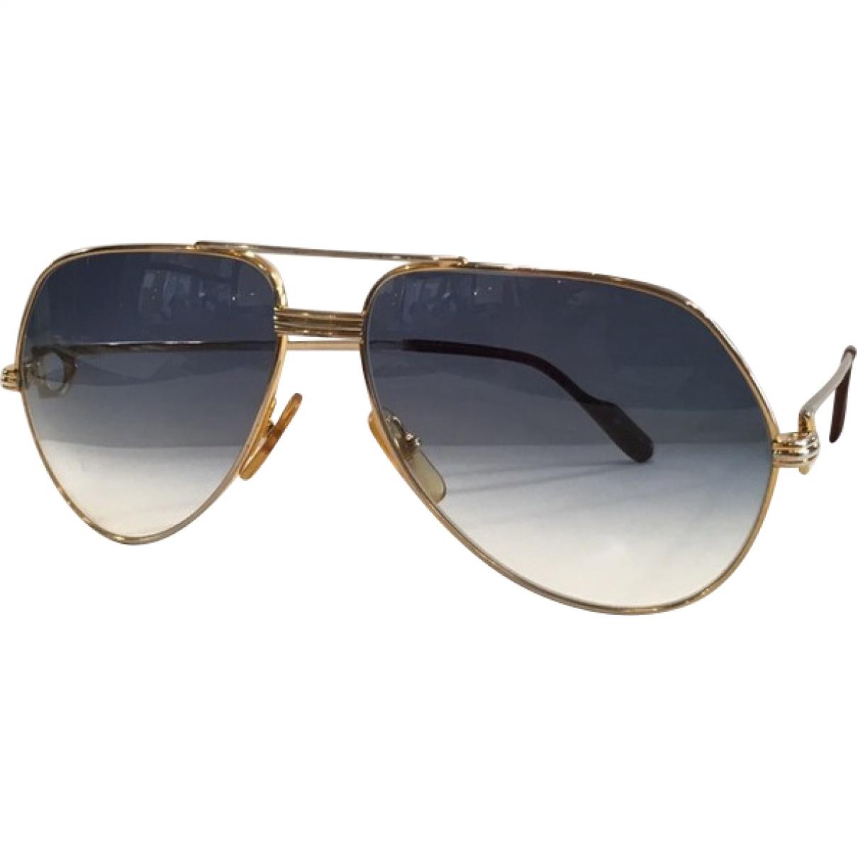 Cartier \N Sonnenbrillen in  Blau Metall