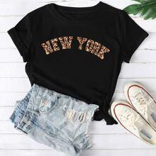 Camisetas de Tallas grandes Letras Casual