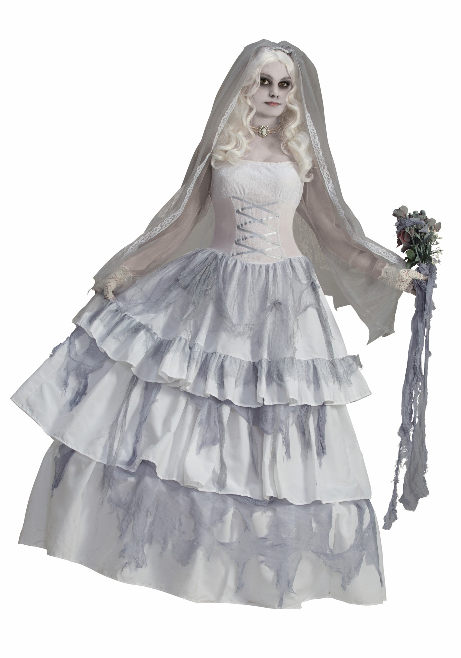 Women's Victorian Ghost Bride Costume