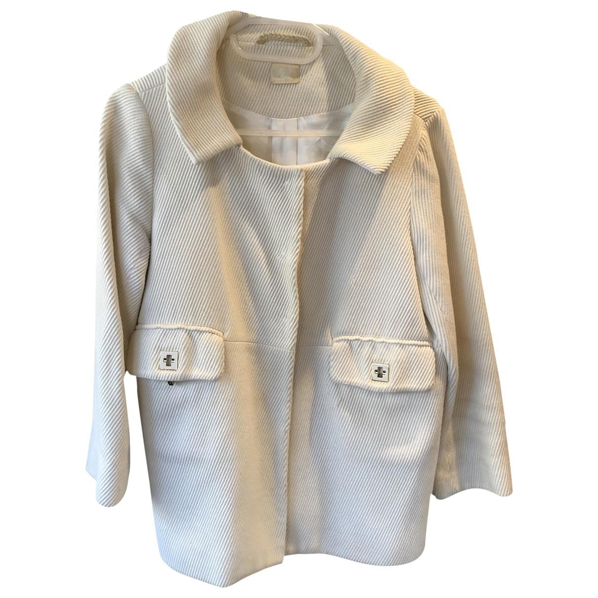 Anya Hindmarch - Manteau   pour femme en coton - blanc