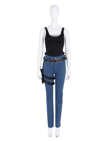 Milanoo Resident Evil 2 Claire Carnival Cosplay Costume