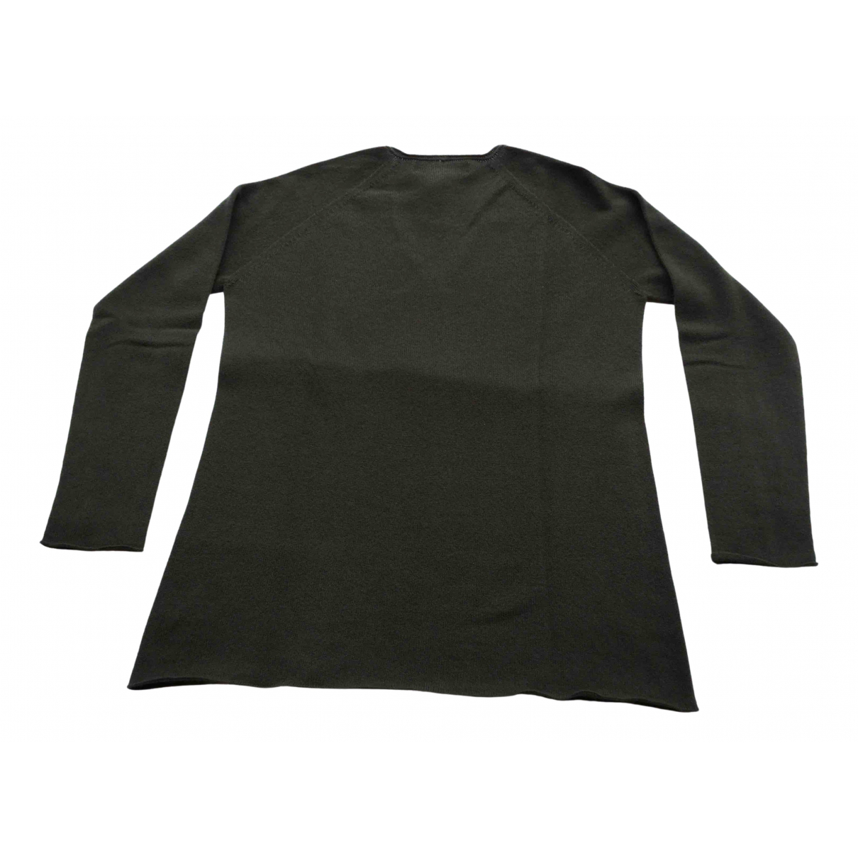 Non Signé / Unsigned \N Khaki Cashmere Knitwear for Women 42 FR
