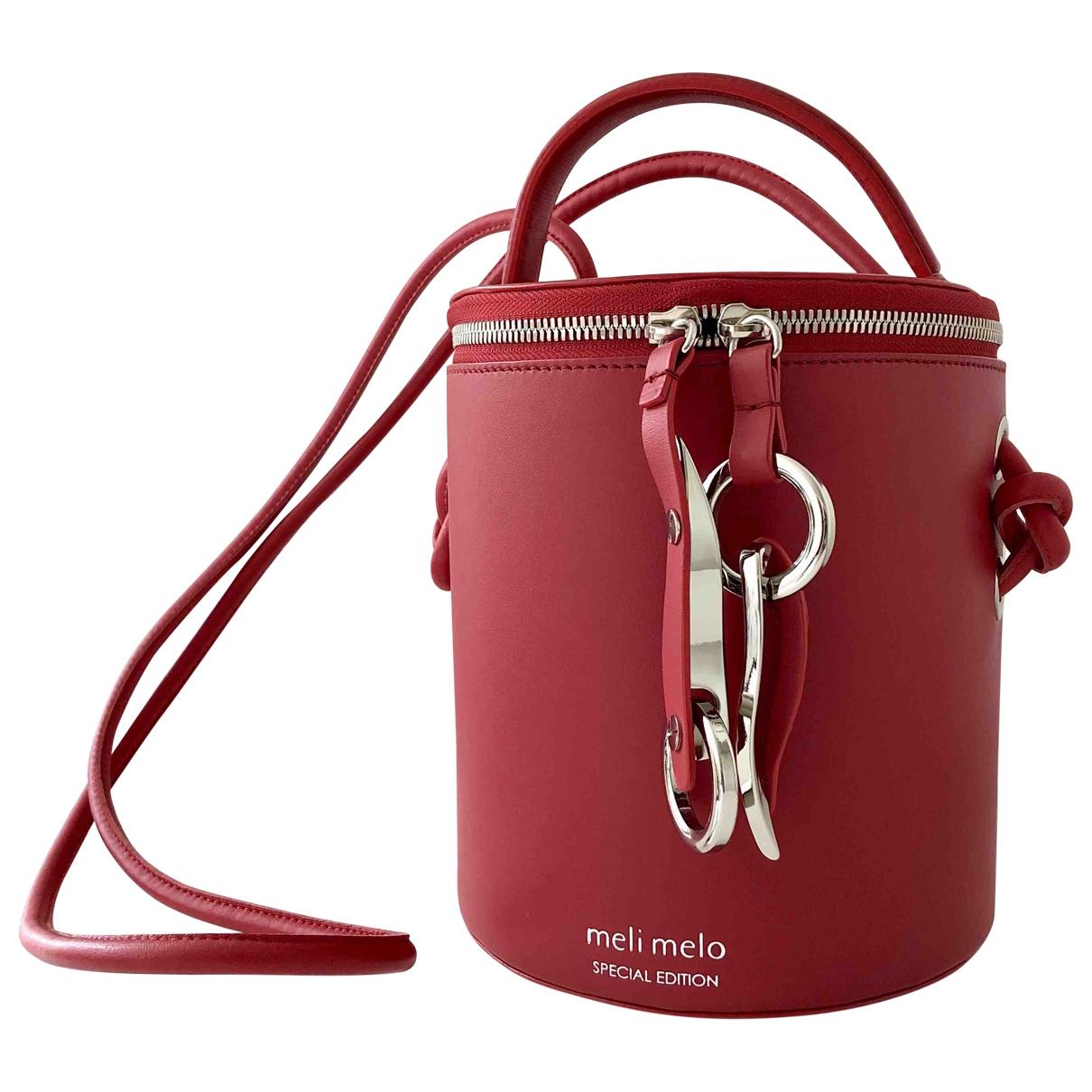 Meli Melo \N Handtasche in  Rot Leder