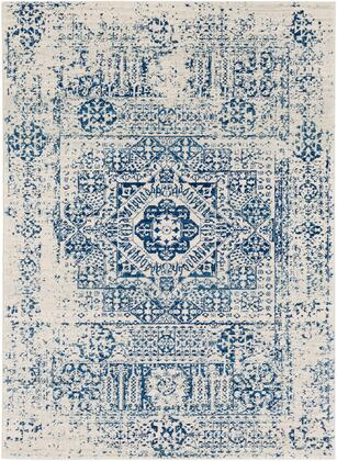 Harput HAP-1025 67 x 9 Rectangle Traditional Rug in Dark Blue  Light Gray