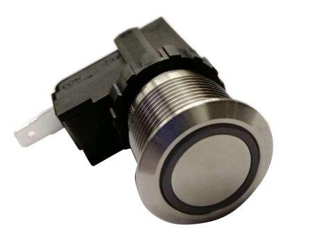 RS PRO Single Pole Single Throw (SPST) Latching Push Button Switch, IP67, 19.1 (Dia.)mm, Panel Mount, Power Symbol, 250 (20)