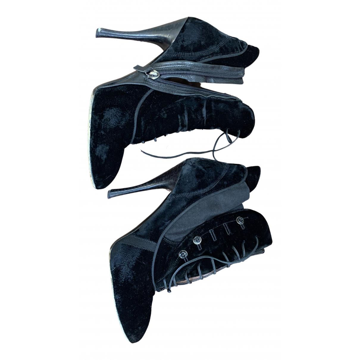 Tabitha Simmons - Boots   pour femme en suede - noir