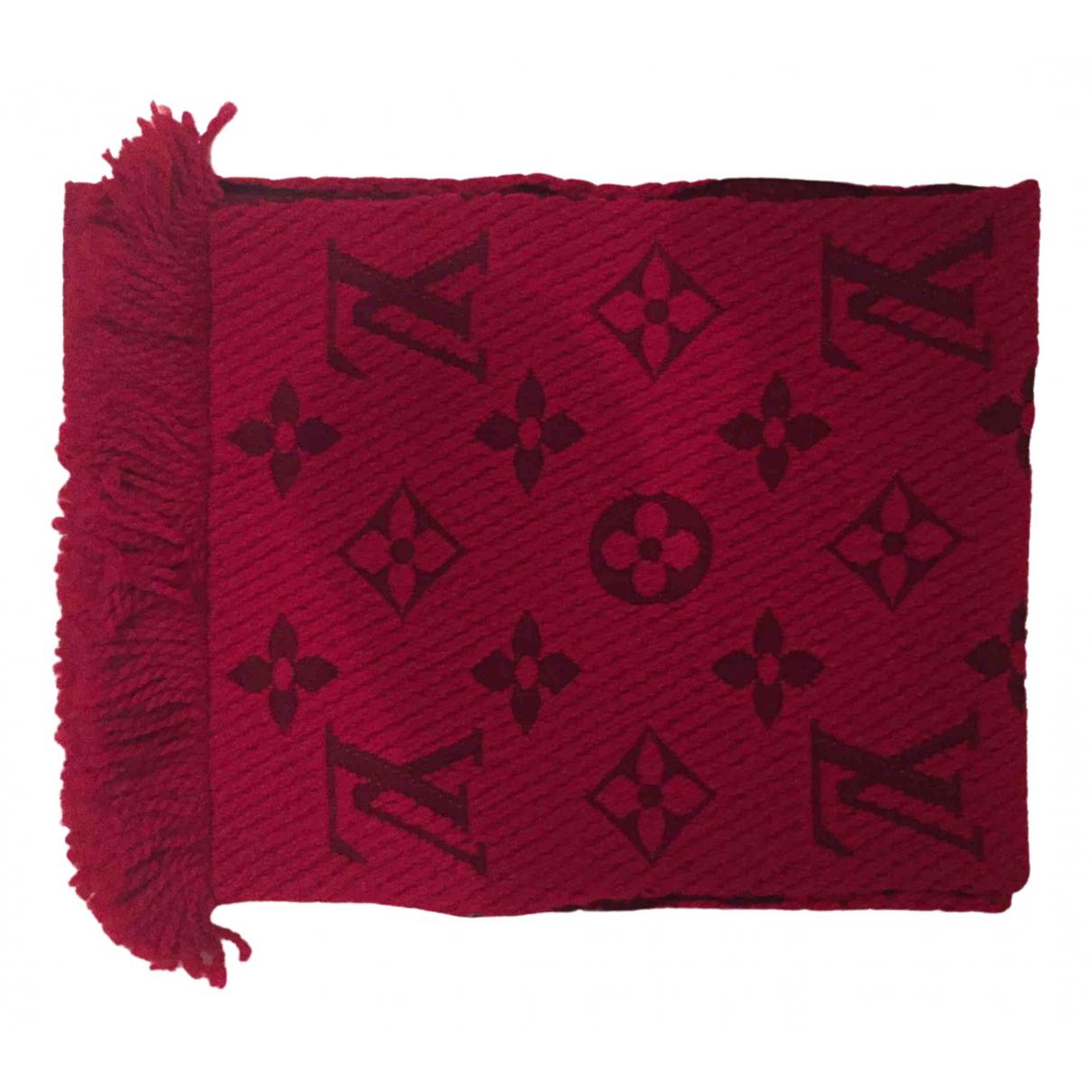 Louis Vuitton Logomania Red Wool scarf for Women \N