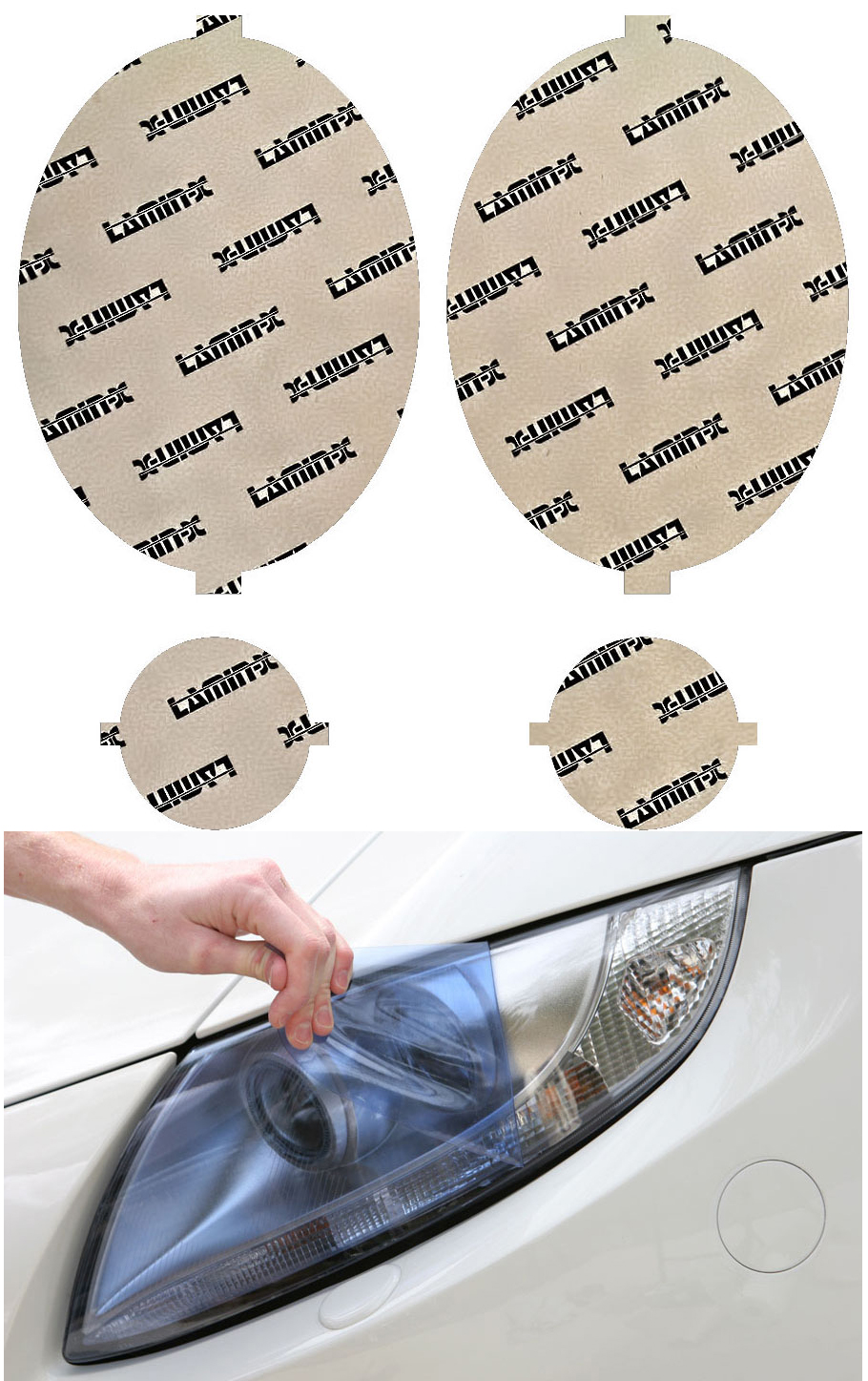 Mini Cooper w/o washers 07-13 Rally Blue Headlight Covers Lamin-X MN015B