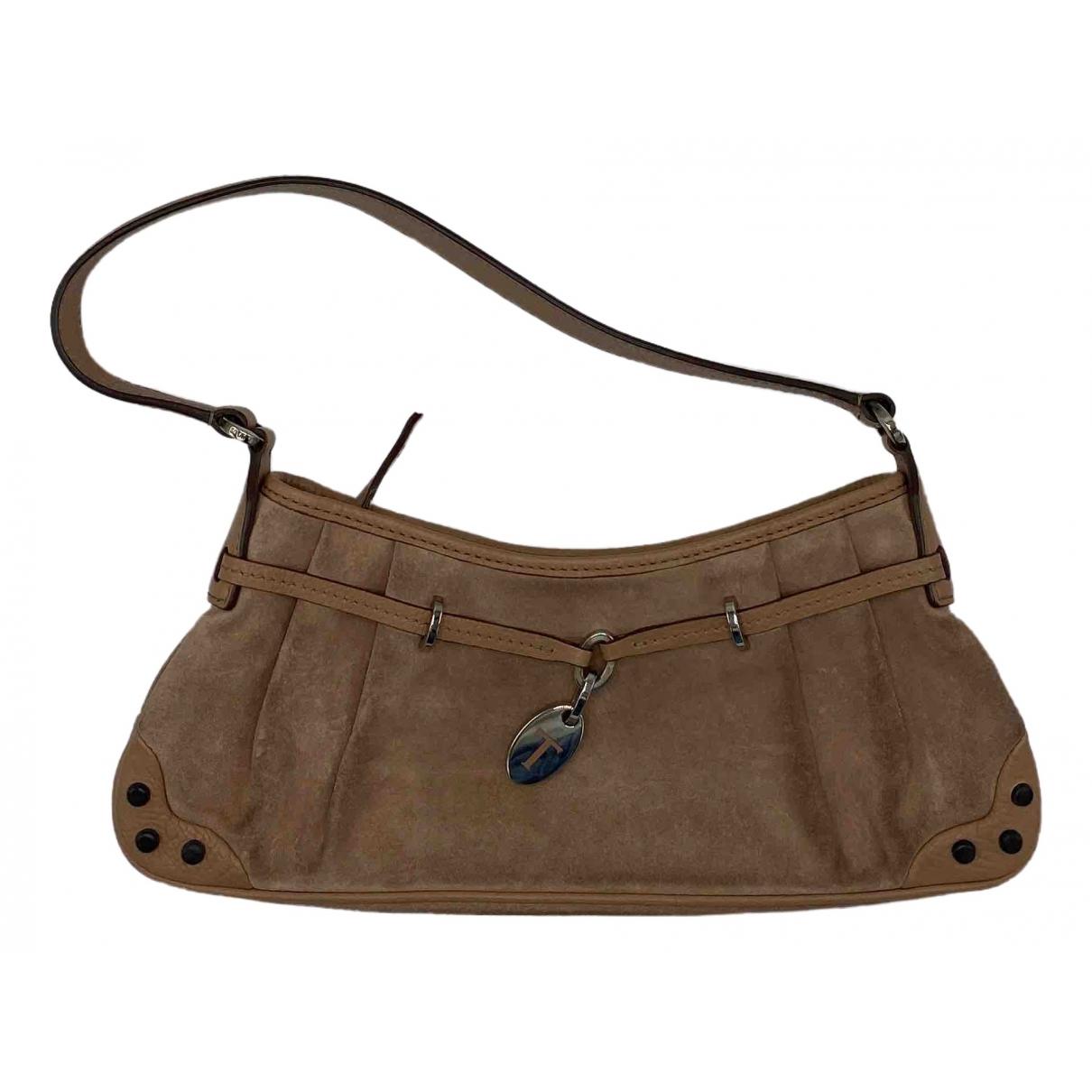 Tods \N Handtasche in  Beige Veloursleder