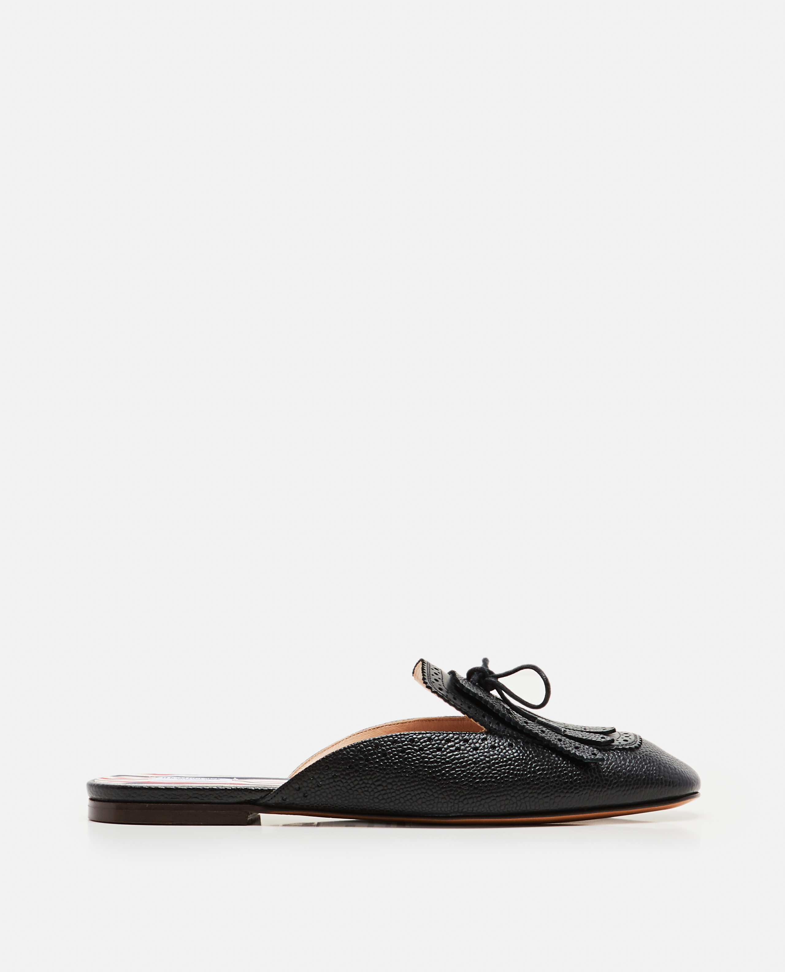 Low leather slipper