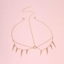 Rivet Charm Layered Chain Hair Accessory
