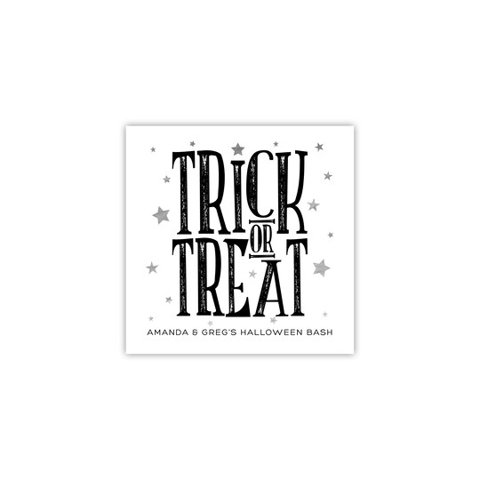 Gartner Studios® Personalized Trick Or Treat Halloween Ink & Foil Napkin in Orange | Michaels®