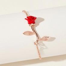 Rose Design Chain Bracelet