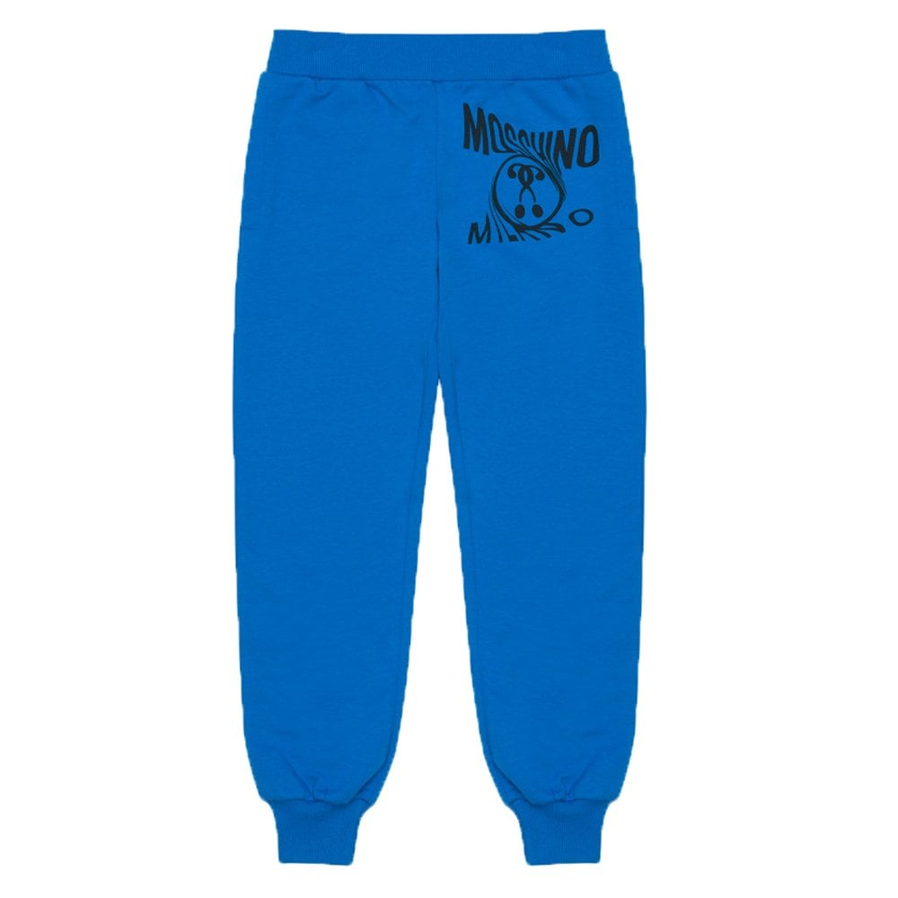 Moschino Joggers Colour: BLUE, Size: 4 YEARS