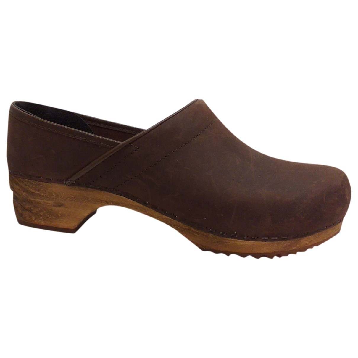 Non Signé / Unsigned \N Brown Leather Mules & Clogs for Women 41 EU