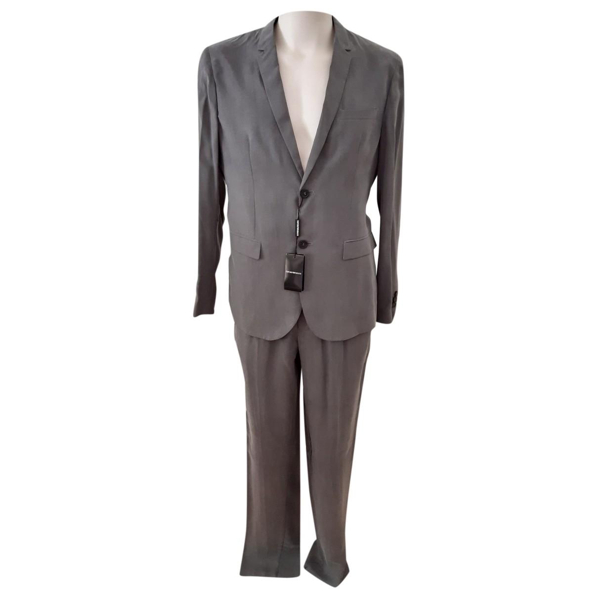 Emporio Armani \N Anzuege in  Grau Wolle