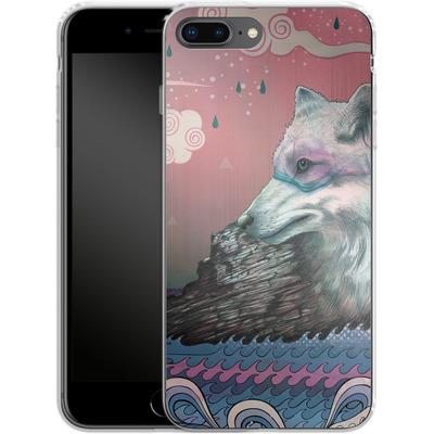 Apple iPhone 8 Plus Silikon Handyhuelle - Lone Wolf von Mat Miller