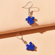 Puzzle Drop Earrings