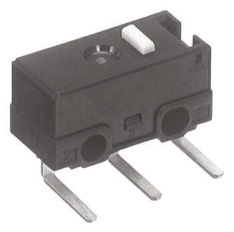 Panasonic SPDT Pin Plunger Microswitch, 100 mA @ 30 V dc
