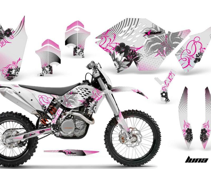 AMR Racing Dirt Bike Graphics Kit Decal Wrap For KTM SX/XCR-W/EXC/XC/XC-W/XCF-W 2007-2011áLUNA PINK